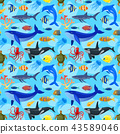 pattern with ocean animals 43589046