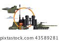 scene, vector, military 43589281