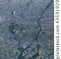도쿄 도심 주변 전경 / 진정한 부감 공중 촬영, 도시 풍경 43591929