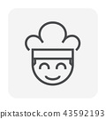 chef hat icon 43592193