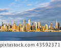 new york city skyline at night  43592371