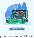 Winter Travel Suitcase Fully Stuffed 43593561