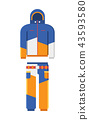 Winter Sport Suit Vector Illustration 43593580