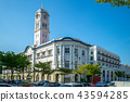 street view of george town, penang, malaysia 43594285