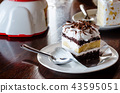 cake bakery in coffee cafe 43595051