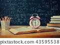 School books on desk, education concept 43595538