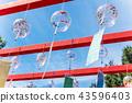 일본의 여름 풍경과 하늘 43596403