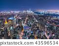 newyork skyline at night.usa 43596534
