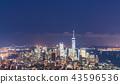 newyork skyline at night.usa 43596536