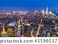 newyork skyline at night.usa 43596537