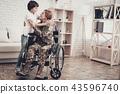 Woman Veteran In Wheelchair Homecoming Concept. 43596740