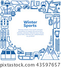 Winter Sports Lifestyle Border Frame 43597657
