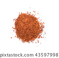 cayenne pepper isolated on a white background 43597998