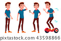Teen Boy Poses Set Vector. Friends, Life. For Presentation, Invitation, Card Design. Isolated 43598866