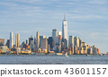 new york skyline in the evening,usa, 08-25-17 43601157