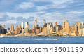 new york skyline in the evening,usa, 08-25-17 43601159