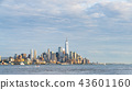 new york skyline in the evening,usa, 08-25-17 43601160