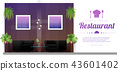 Modern restaurant with table and chairs background 43601402