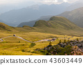 Sunset at the Passo di Giau, in the Italian Dolomites 43603449