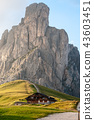 Sunset at the Passo di Giau, in the Italian Dolomites 43603451