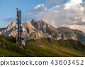 Sunset at the Passo di Giau, in the Italian Dolomites 43603452