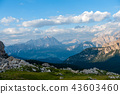 Sunset at the Passo di Giau, in the Italian Dolomites 43603460