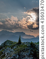 Sunset at the Passo di Giau, in the Italian Dolomites 43603470