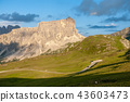 Sunset at the Passo di Giau, in the Italian Dolomites 43603473