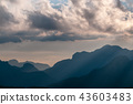 Sunset at the Passo di Giau, in the Italian Dolomites 43603483