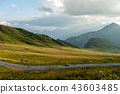 Sunset at the Passo di Giau, in the Italian Dolomites 43603485