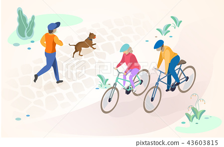 Active Recreation and Rest Outdoors Vector Concept 43603815