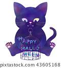 ฮาโลวีน,แมวดำ,แมว 43605168