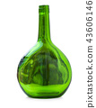 Glass bottle green. Glass bottle 43606146