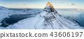 Famous Kirkjufell mountain in winter, Iceland 43606197
