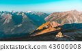 High altitude alpine landscape, sunrise light 43606908