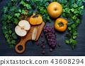 grape, japanese persimmon, persimmon 43608294