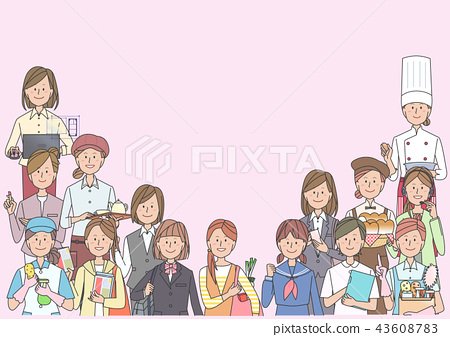 各种职业的女性 43608783