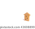 Wooden figure of a multi-storey house 43608899