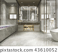 modern bathroom with luxury tile decor  43610052