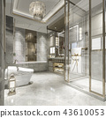 modern bathroom with luxury tile decor  43610053