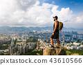Man enjoying Hong Kong view from the Lion rock 43610566