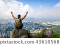 Man enjoying Hong Kong view from the Lion rock 43610568