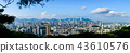 Hong Kong cityscape panoramic view from Lion rock 43610576