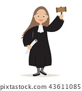 The Judge Cartoon Women Character 43611085
