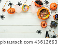 Table top view decoration Happy Halloween day. 43612693