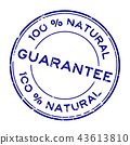 stamp, label, sign 43613810