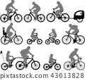 bicyclists silhouettes collection 43613828