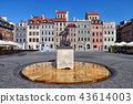 Old Town Market Square of Warsaw in Poland 43614003