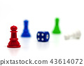 Selective focus of red chess pawn 43614072