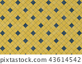 Abstract pattern with blue geometric square shape 43614542